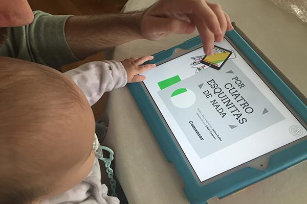 Un estudio recomienda el uso de tablets por parte de bebés