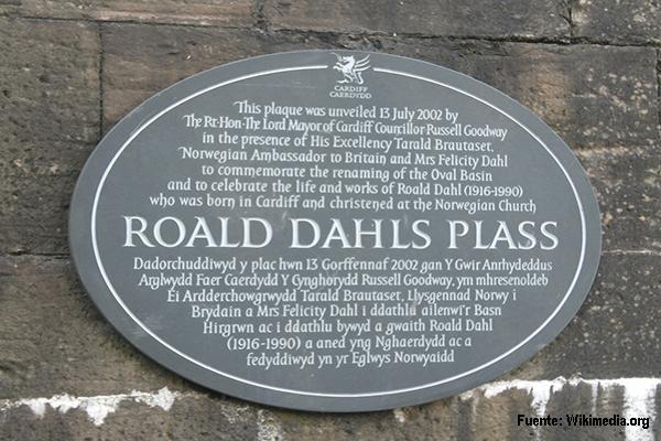 Roald Dahl Plass plaque