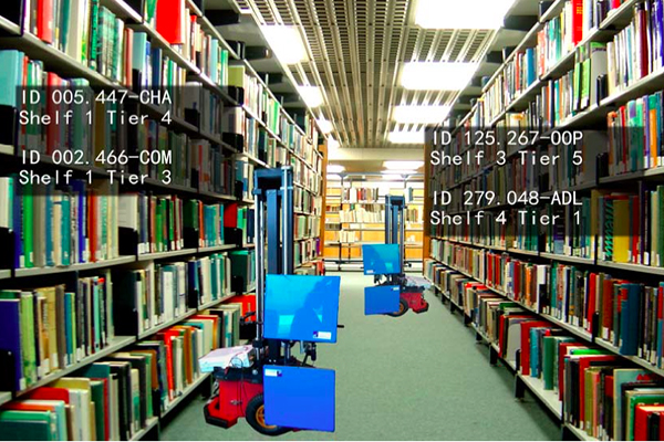 El robot ayudante de biblioteca