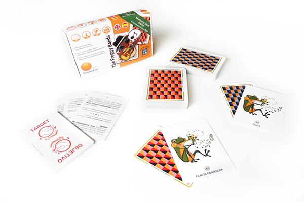 The Froggy Bands Memory Card Game. Un juego de cartas y una app para aprender conceptos musicales en español y en inglés